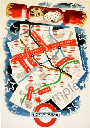 London Underground for Christmas Shopping